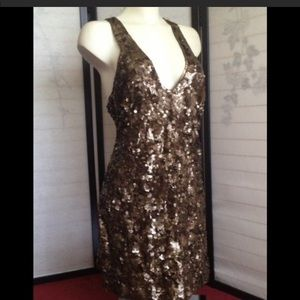 French connection mini sequin dress large